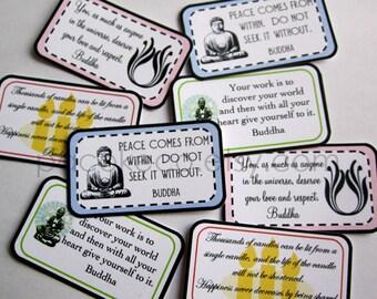 POCKET PERKS - Buddha Quote Series - Mini Memos to Spread Good Cheer