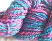 Handspun Hand-dyed Wool Yarn - 77 yds