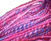Handspun Hand-dyed Berries Wool Yarn - 99 yds 3 3/4 oz