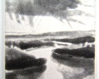 Aquatint Landscape Etching