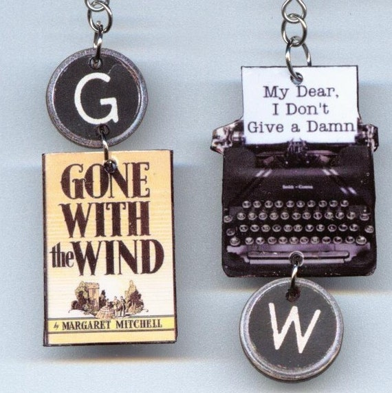 Gone with the Wind  Earrings Vintage typewriter