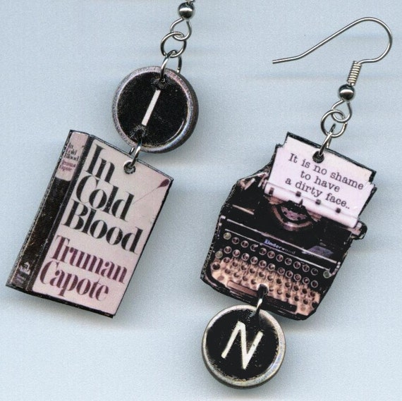 In Cold Blood Quotes And Page Numbers: In Cold Blood Earrings TRUMAN CAPOTE Quote By DesignsByAnnette