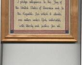 Pledge Of Allegiance Cross-Stitch