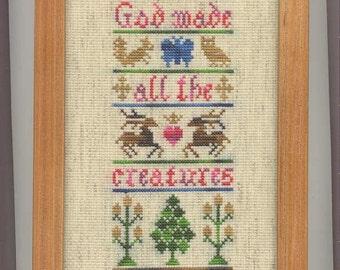 Gods Creatures Cross-Stitch