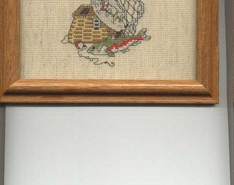 Gone fishing cross-stitch