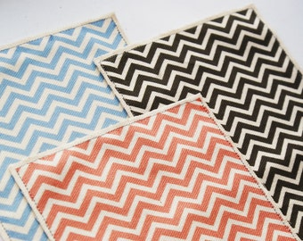 Blue Red Black Chevron Print Dolls House Rug - 12th Scale - Choice of colours