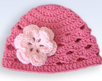 Toddler Hat, Baby Girl Hat, Baby Newborn Hat, Newborn Prop, Crochet Newborn Hat, Dark Pink, Crochet Baby Hat, Baby Girl, Girl Hat
