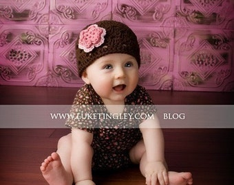 Baby Girl Hat, Infant Newsboy, Baby Girl Coming Home Outfit, Newborn Hat, Crochet Hat, Baby Gift, Shower Gift, Photo Prop