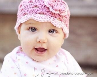 Toddler Hat, Baby Newborn Hat, Crochet Baby Hat, Baby Girl Hat, Pink, Baby Girl, Photo Prop, Baby Girl Beanie, Newborn Baby Hat