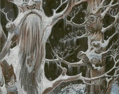 Fantasy Trees Tree Nymph Snow Original Artwork by Rosalie Rushing