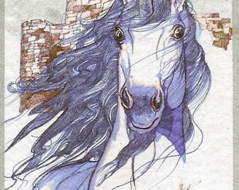 Unicorn ACEO Card Limited Edition ART by Rushing