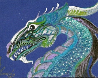 Dragon ACEO Card Original Artwork by Rosalie rushing