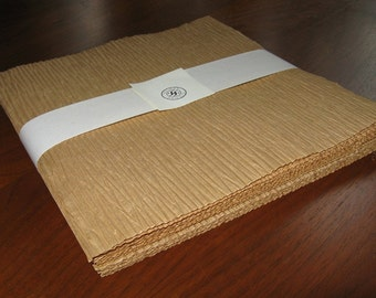 25 sheets DIY Kraft Krinkle Recycled Paper - Scrapbooking, collage & paper crafts, 8 x 8 Squares