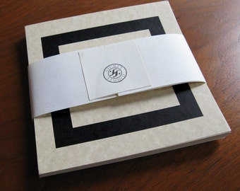 25 DIY cards or invitations, Parchment Cardstock Blanks with Border 5 x 5.25