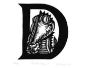 D is for Dragon Original print