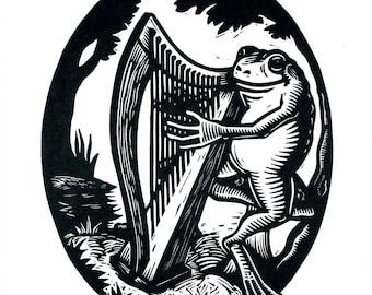 Harp Frog Card