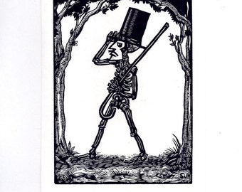 Top Hat and Cane Greeting Card