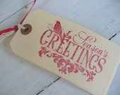 Season's Greetings Christmas Gift Tags