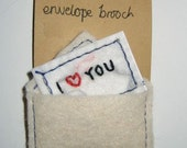 envelope brooch