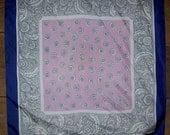 SETA PURA  Pure Silk Scarf With Metal Stamp Large 30 x 30