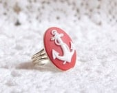 Anchor Ring Red and White Anchor Ring
