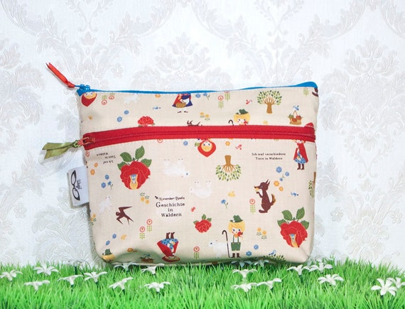 Red Riding Hood Zipper Pouch Make Up Bag Cosmetic Case