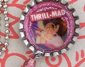 Thrill-Mad Reversible Vintage Bottle Cap Pendant