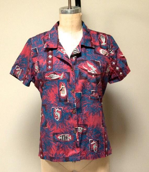 Vintage Mid Century Reyn Spooner Hawaiian Shirt