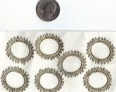 Vintage Gold Paper Lace 7 sticker set