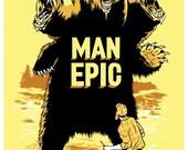 MAN EPIC Print by Mickey Duzyj (yellow)