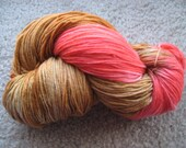 Caramel Apple Superwash Merino Wool Sock Yarn 462 yards