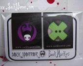 Sock Horror magnetic page marker bookmarks set of 2