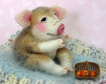 PDF CLASS Needle Felted Animal Needle Feting Pig CLASS By Barby Anderson (Kits available and sold separately)