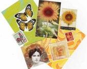 ATC Mini Collage Kit French Sunflowers
