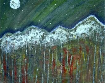 Mountain Sky - 8 x 8 Original Painting