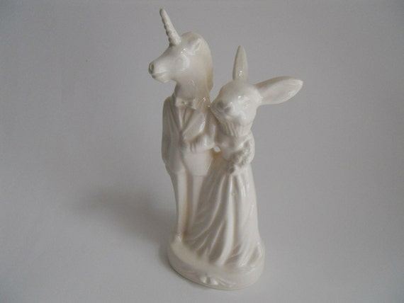 Unicorn and Rabbit Cake Topper