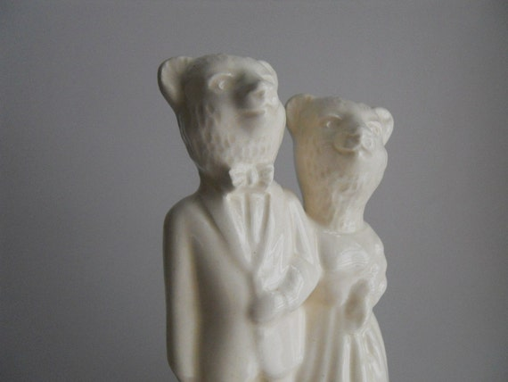 Bear Weds Bear Wedding Cake Topper