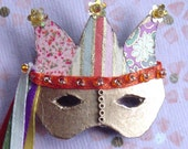 Miniature Masquerade Mask Pin - Jester 2\/RESERVED FOR HYLA