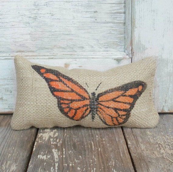 Butterfly -  Burlap Doorstop