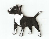 BULL TERRIER YOUR COLOR CHOICE PIN BROOCH