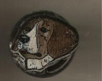BEAGLE DOG ADJUSTIBLE RING HAND MADE AND HAND PAINTED