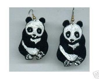 PANDA EARRINGS ZOO TO YOU HANDPAINTED