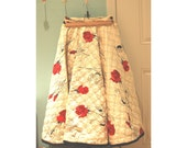 Vintage Circle Skirt - Alex Colman California Quilted S M