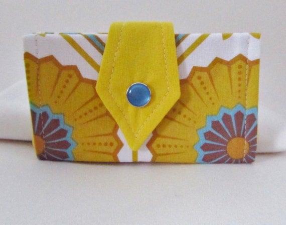 Small Card Wallet Organizer Squash Blossom