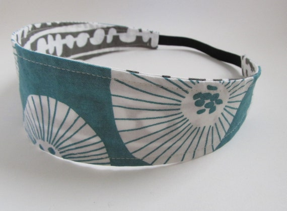 Handmade Reversible Cotton Headband - First Snow
