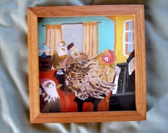 Hen Party - Framed Print
