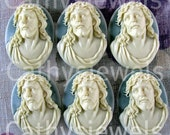 Jesus Portrait Cameos 40x30 Set Of Six