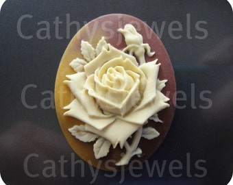 Fall Colors Rose Portrait Cameo