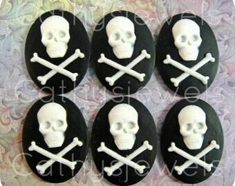 Unset Loose Cameo Skulls  40x30