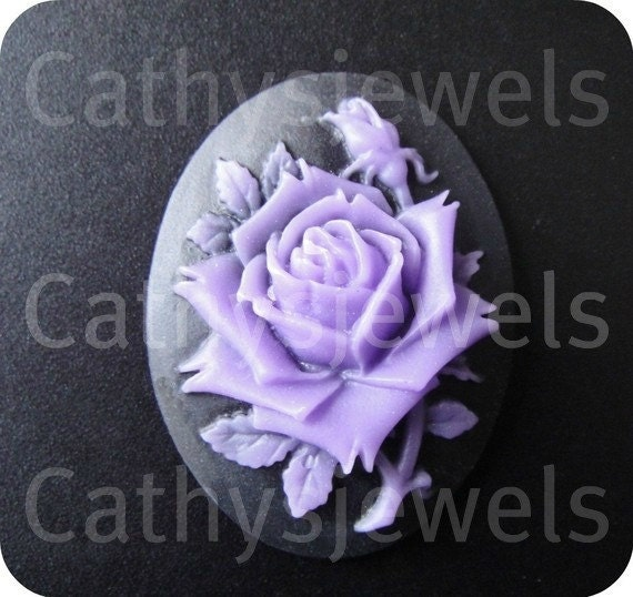 Single Lavender Rose Cameo 40x30